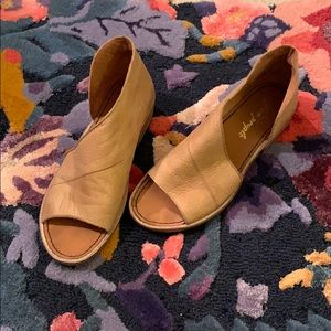 Free People Mont Blanc leather flat sandals